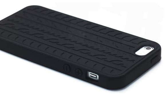 silikon schutz h lle reifen schwarz apple iphone 5 case. Black Bedroom Furniture Sets. Home Design Ideas